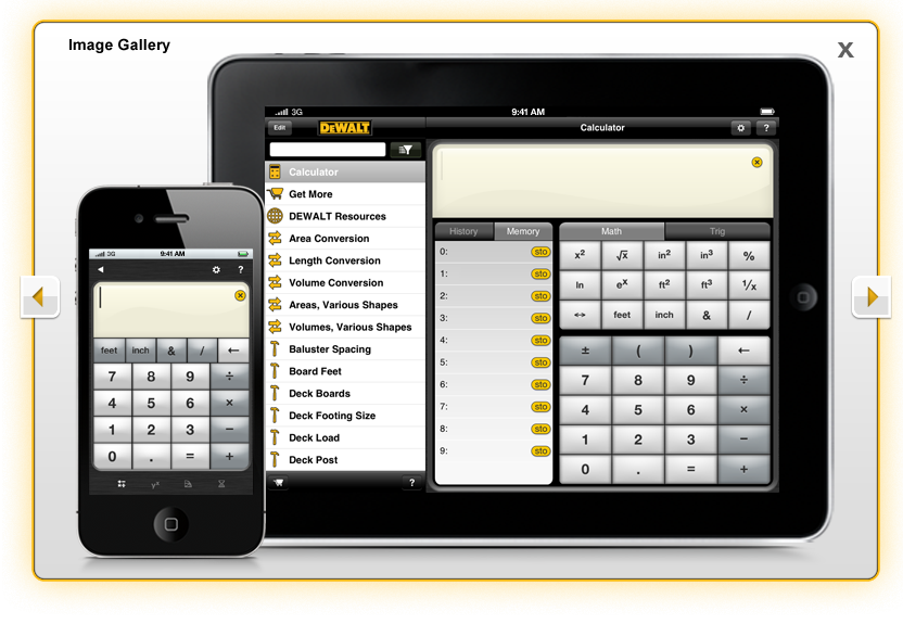 Dewalt mobile pro construction estimator calculator app for Free online construction estimator